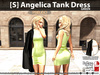 s  angelica tank dress green pic
