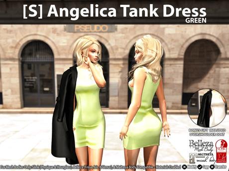 [S] Angelica Tank Dress Green