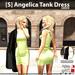 s  angelica tank dress green ad