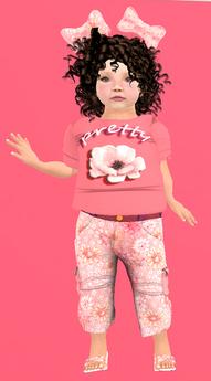 Lexxie Toddleedoo Pretty Shirt Kid