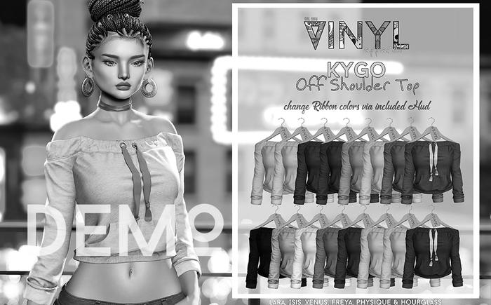 Vinyl - Kygo Off Shoulder Top pak DEMO