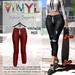 Vinyl - Sylvia Joggers Pak Vintage Red