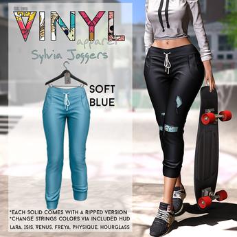 Vinyl - Sylvia Joggers Pak Soft Blue
