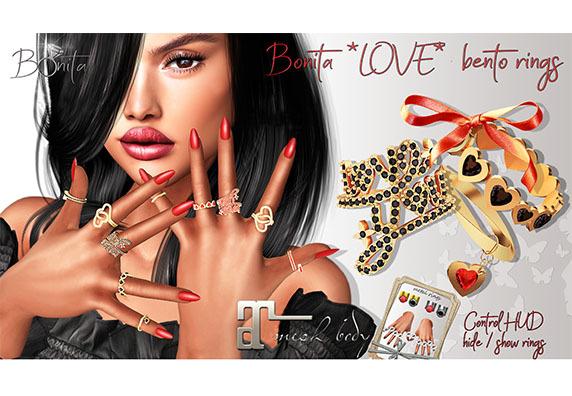 *Bonita* Love bento rings
