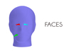Faces female full head mask
