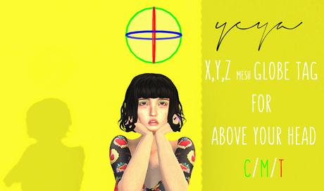 YZ - X,Y,Z globe Tag