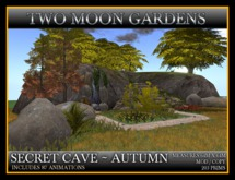 SECRET CAVE - AUTUMN* Landscape Cave with tunnels and waterfalls