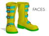 Faces space biker boots