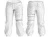 Ao space biker pants with belt