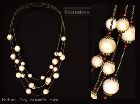 KUNGLERS - Ruth necklace - Pearl
