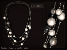 KUNGLERS - Ruth necklace - Onyx