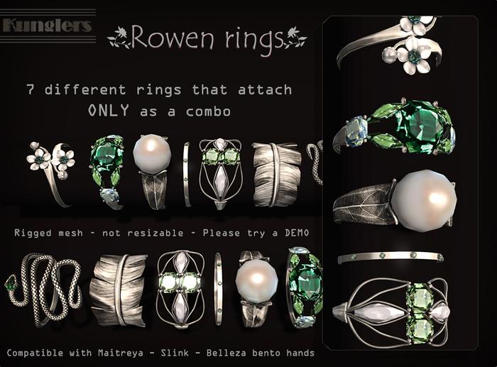 KUNGLERS - Rowen rings - Peridot