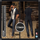 [RnR] Swag Rascal Cowboy & Country Western Outfit w/ Shirt, Denim Jeans, Boots, Cowboy Hat in Gianni, Jake & Slink!