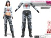 MI962733S Space Biker Full Pants Cropped Top Boots Outfit