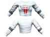 Mp main empty 1 one arm rolled up long sleeves round neck cropped biker top