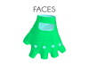 Faces space biker gloves