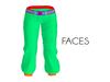 Faces space biker pants with belt