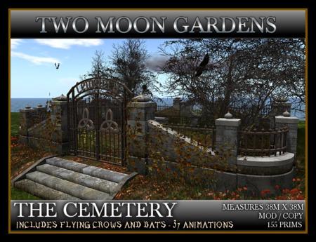 THE CEMETERY* Halloween Landscaped graveyard garden
