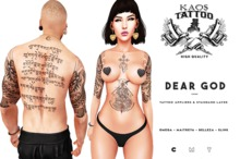 KAOS DEAR GOD TATTOO
