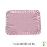 ~The Green Door~ Ruffle Rug - Pink Unicorn