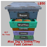 Miss Ing's Dinkie Tiny Food Cabinet Boxed