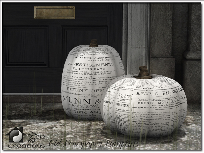 Old Newspaper Pumpkins