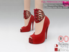 %50WINTERSALE Full Perm High Heeled Red Peep Toe Pumps Ankle Strap Shoes Slink High, Maitreya, Ocacin , Belleza