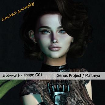 Elemiah - SHAPE G01 - for Genus Project head & Maitreya