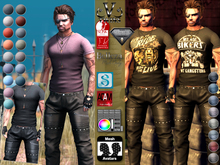 V-Twins - Biker Clothes - Ghost Rider Casual Version **MESH Outfit [Mesh Bodies Compatible] Signature Slink Belleza