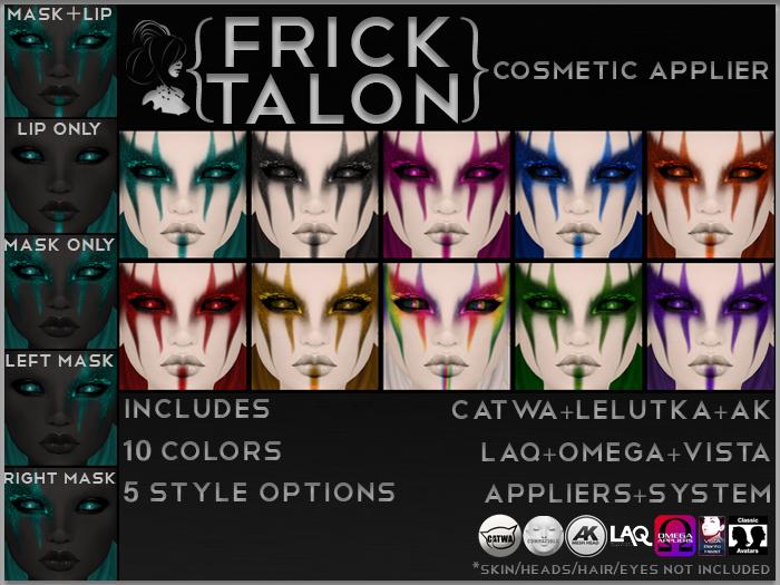{Frick} Talon Makeup {Catwa,Omega,Lelutka,LAQ,AK,Vista,BoM}