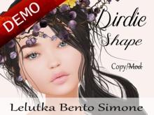 "Birdie Shape ""Lelutka Bento Simone Head"" Demo"