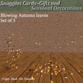 Blowing Autumn leaves  Set of 3 By Snuggles