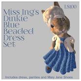 Miss Ing's Dinkie Blue Beaded Circular Dress Set