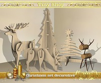 Christmas set decorative (5 objects),100% mesh (full perm).
