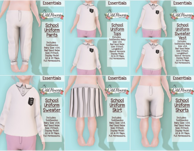 {WF} School Uniform - Full Perm - FattPack  [Box]