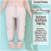 {WF} School Uniform - Full Perm - Pants  [Box]
