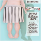 {WF} School Uniform - Full Perm - Skirt  [Box]