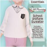 {WF} School Uniform - Full Perm - Sweater  [Box]