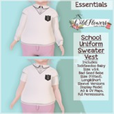 {WF} School Uniform - Full Perm - Sweater Vest   [Box]