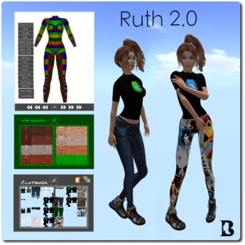 Mesh Ruth 2.0 Bento Body Head Hands Feets Appliers Full Perm