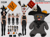 [SuXue Mesh] Teddy Bear Witch, Hud 10 Bear, 5 Pose, Bright & Sign & broom on/off - Wear & Rez Floor- Resize TRANSFER