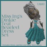 Miss Ing's Dinkie Teal Beaded Circular Dress Set