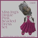 Miss Ing's DInkie Pink Beaded Circular Dress Set