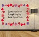 .:{ MG }:. Live, Laugh, Love - Wall Decal