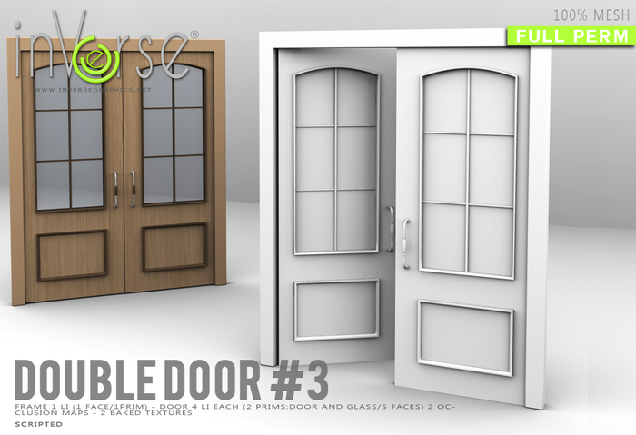 inVerse® MESH -Double door with frame #3 full permission