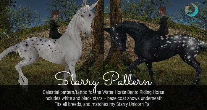 Lunistice: Starry - Water Horse Pattern/Tattoo