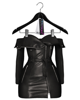 Jeune by Rowne.Fraser Moto Dress - Onyx