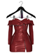 Jeune by Rowne.Fraser Moto Dress - Red