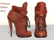 ~PP~ Pumpkin Leather Ankle Boots