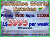 Paradise World Estates - L$ 3995 - 4500 prims - Land For Sale - Land For Rent